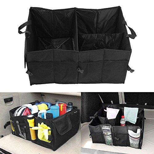 Holoras Kofferraum Organizer mit großen Netz-Taschen, Auto Aufbewahrungstasche Auto-Sitztasche für mehr Ordnung und Platz in Ihrem Kofferraum