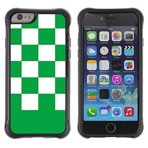 Graphic4You Kariert Muster Design Shockproof Anti-Rutsch Weichen Hülle Case Tasche Schutzhülle für Apple iPhone 6 / 6S (Grün) Vert