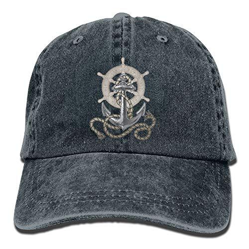 HSCVRT Cowboy Baseball Caps Unisex verstellbare Hüte Ruder Anker Schiff Seil