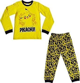 pokemon 100 pyjama en coton pour enfants pokemon pikachu vont v tements et accessoires. Black Bedroom Furniture Sets. Home Design Ideas