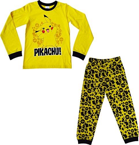 Image of Childrens - Pokemon Pyjamas 100% Cotton Long Snuggle fit Pikachu pokemon go[7-8 Years][Yellow]