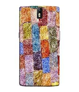 PrintVisa Designer Back Case Cover for OnePlus One :: OnePlus 1 :: One Plus One (Blue tile Multi coloured tiles)