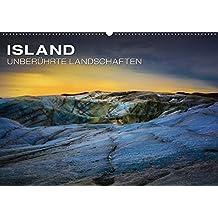 Island - Unberührte Landschaften (Wandkalender 2019 DIN A2 quer): Jeden Monat ein Stück Island - Die schönsten Wasserfälle und größten Gletscher Europas (Monatskalender, 14 Seiten ) (CALVENDO Natur)