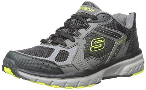 Skechers Geo-Trek-Pro Force Herren Textile Turnschuhe Charcoal/Lime