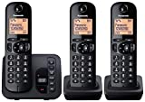 Panasonic 51739 Digital Cordless Phone with LCD Display - Black, Pack of 3 - Best Reviews Guide