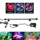 SPEED Aquarium Mondlicht SMD LED Lampe Wasserdicht Aquarium Beleuchtung Tageslichtsimulator RGB / Blau&Weiß / kaltweiß (28-110CM) Blau&Weiß 48cm