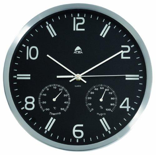 alba-hormet-reloj-de-pared-30-cm-con-termometro-color-negro