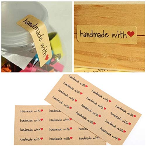 7thLake 120 STÜCKE DIY Kraft Dicht Aufkleber Papier Handwerk Handmade Label Verpackung Aufkleber -