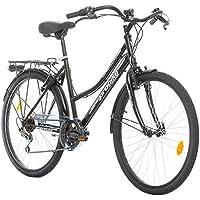 Probike 26 City ZOLL FAHRRAD 18-Gang urbane Cityräder For Heren, Damen, Unisex Schwarz 455mm