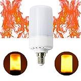 Ampoule LED effet flamme.Caractéristiques:  Dimensions:Puissance:5W.LED.Lumière super claire avec 88 ampoules.Tension d'entrée: 85-265V - 50-60Hz - CA.Rendement:400 Lm.Couleur de la lumière:1800-2000K.Angle d'éclairage:360 degrés.Culot:E1...