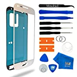 MMOBIEL Front Glas Reparatur Set für Samsung Galaxy S4 Mini i9190 i9195 Series (Weiß) Display Touchscreen mit 11 TLG. Werkzeug-Set inkl passgenauem Klebe-Sticker/Pinzette / Saugnapf/Metall Draht/Tuch