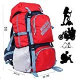 #4: POLE STAR ROCKY Polyester 60 Lt Red Rucksack/ Travel / Hiking / Weekend backpack bag