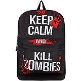 Sac à dos Keep Calm & Kill Zombies 32 x 42 x 11 cm noir