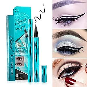 Weixinbuy Sky Blue Diamond Cut Eyes Maquillaje Eyeliner Lápiz Herramienta de maquillaje Liquid Waterproof Eyeliner De…