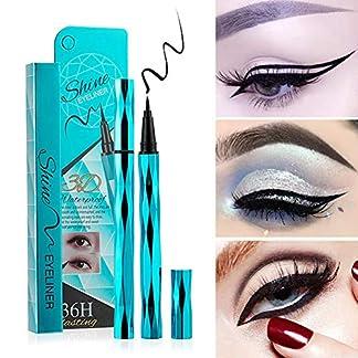 Weixinbuy Sky Blue Diamond Cut Eyes Maquillaje Eyeliner Lápiz Herramienta de maquillaje Liquid Waterproof Eyeliner De larga duración