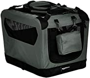 AmazonBasics Premium Folding Portable Soft Pet Dog Crate Carrier Kennel - 21 x 15 x 15 Inches, Grey
