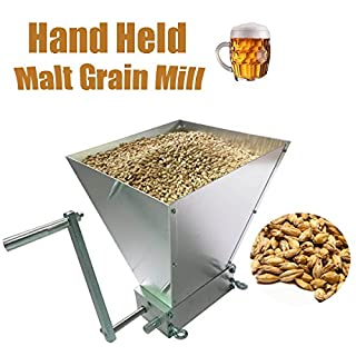 Aliciashouse Hand Held Malt Grain Mill Home Brewed Beer Machine