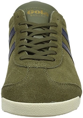 Gola Bullet Suede Khaki/Navy, Sneaker Uomo Verde (Khaki/navy Ne)