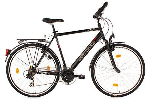 KS CYCLING CLIMAX   BICICLETA DE TREKKING PARA HOMBRE  COLOR NEGRO  RUEDAS 28  CUADRO 53 CM