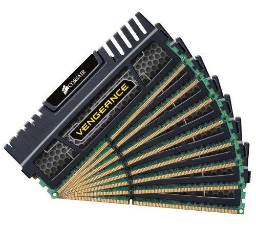 Corsair CMZ64GX3M8A1600C9 Vengeance 64GB Arbeitsspeicher ((8x8GB) DDR3 1600 MHz (PC3 12800)) schwarz