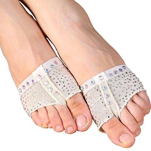 /Ballett Dance Socken Dance Fuß Pad Praxis Schuhe Fuß Tanga Schutz (Ägyptische Bauchtanz Kostüme Uk)