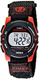 Timex Unisex T49956 Expedition Mid-Size Digital Black/Red Fast Wrap Strap Watch