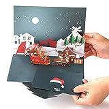 Paper Spiritz 3D Weihnachtskarten, Pop-Up-Geburtstagskarten, 3D Urlaubs-Postkarten – Geschenke für Weihnachten, lustige Merry Christmas Dankeskarten