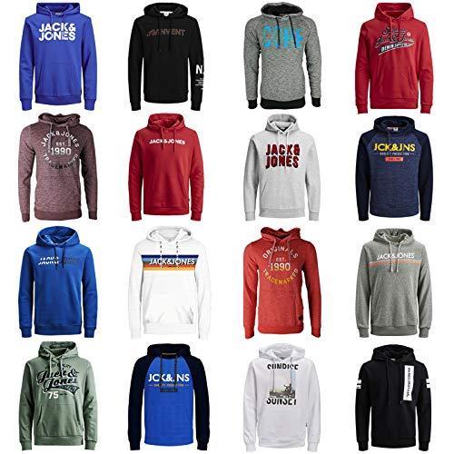 JACK & JONES Kapuzenpullover 3er Pack Hoodie Sweat Shirt Herren Baumwollmix S M L XL XXL (S, 3er Pack Hoodie #1) 3 Pullover Hoodies