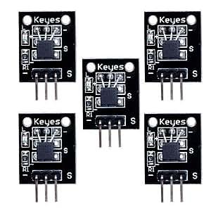 température numérique module de capteur DS18B20 pour (pour Arduino) (-55 ~ 125 ?) - noir (5pcs)