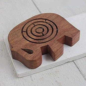 Hölzernes Labyrinthball-Labyrinthpuzzlespiel-Spielkinderherz geformt für Geschenke