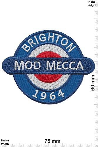 Patch - Brighton Mod Mecca - 1964 - Vespa - Motorrad - Motorrad - Vespa - Aufnäher - zum aufbügeln - Iron On -