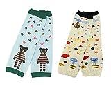BONAMART ® 2 Paar Baby Mädchen Jungen Kleinkinder Stulpen Babystulpen Leggings Leg Wearmers