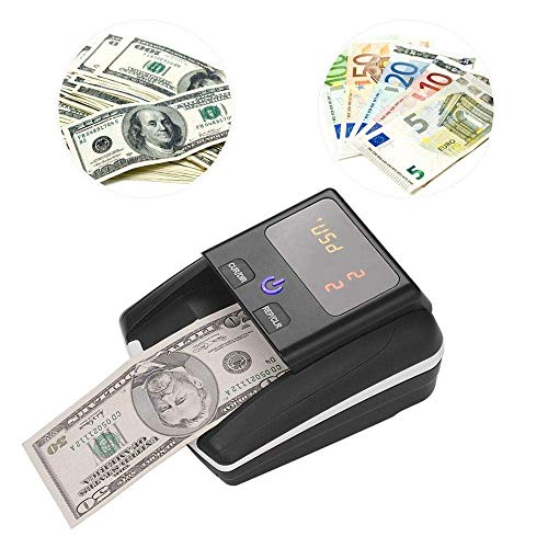 GXWLWXUP Tragbarer Business Grad Währung Cash Counter, Geld Zähler Banknotenzählmaschine mit UV/MG/IR-Detektion, stapelbare Weit verbreitet in Läden, Lebensmittelgeschäfte, Restaurants, Hotels