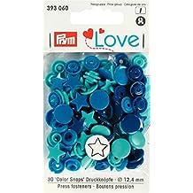 Prym 393060 Sternform Color snaps Prym Love Druckknopf Color KST 12,4mm blau/türkis/marine