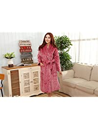 29e5d837df pengweiAutumn and winter pajamas flannel thick long paragraph dot Ms.  bathrobe warm home service