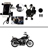 #5: AutoSun Spider Bike MultiFunctional Mobile Holder with USB Charger Mototrcycle Mobile Holder Bracket oyal Enfield Classic 350/500 Cc/ Thunderbird 350 /500 Cc
