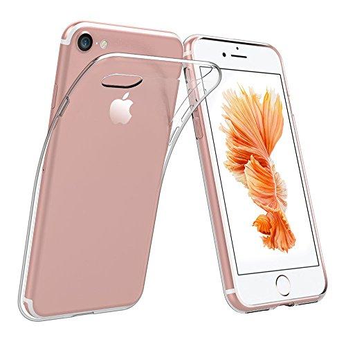 iPhone 7 Transparent Hülle Silikon, iPhone 7 Clear Case, Handyhülle iPhone 8, SpiritSun Crystal Clear TPU Soft Flex Ultra Dünn Handyhülle Anti-Scratch Gel Hülle Schutzhülle für Apple iPhone 7 / - Iphone 6 Ersatz-bildschirm-pink