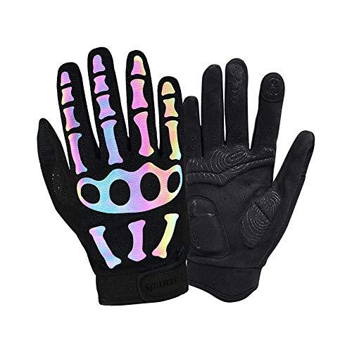 Xuanbao Arbeitshandschuhe Fitness Radfahren Vollfinger-Handschuhe, langhäutig, reflektierende, für Männer geeignet Schnittfester Schutz (Größe : L) (Arbeitshandschuhe Reflektierende)