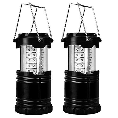 E-db LED Camping Laterne und Taschenlampe Tragbar Zusammenklappbare Campinglampe - Großartig Bei Camping, im Auto, Schuppen, Dachboden, Garage & Stromausfällen (2P)