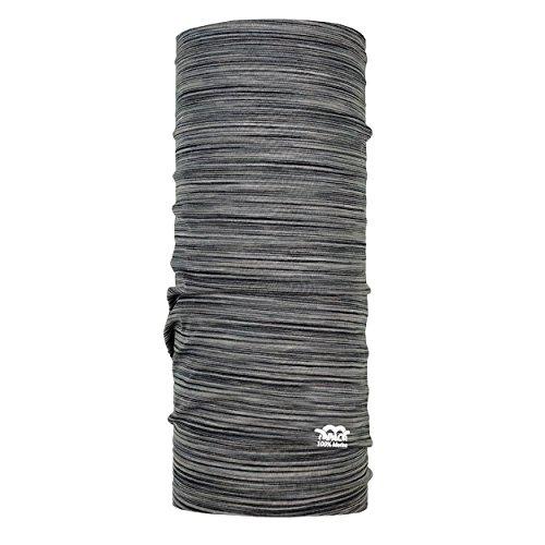 P.A.C. Merino Wool Multi - Stone Rock Multifunktionstuch - Merinowoll Schlauchtuch, Halstuch, Schal, Kopftuch, Unisex, 10 Anwendungsmöglichkeiten -