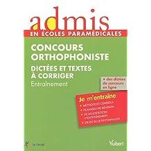 Concours Orthophoniste - Dictées et textes à corriger
