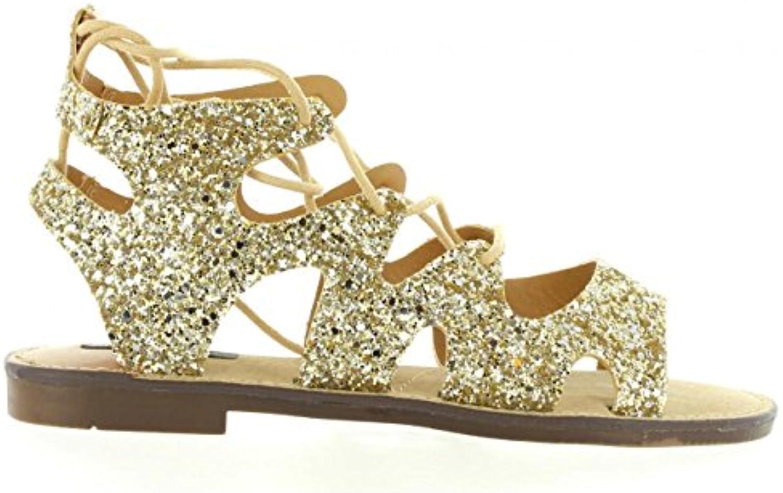 MTNG Sandalen für Damen 53674 C24518 Glitter PLAT