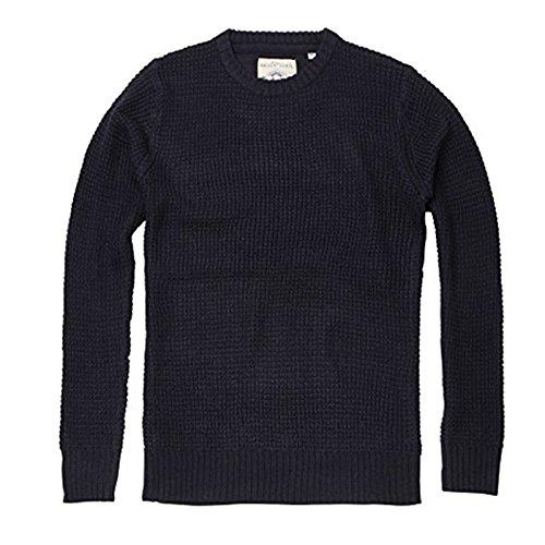 Brave Soul Herren Pullover Gr. M, navy (Cable Crewneck Cashmere Pullover)