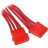 BitFenix Molex (4-pin) - Molex (4-pin), 0.45m - cables électriques (0.45m, Mâle/Femelle, Molex (4-pin), Molex (4-pin), Rouge)