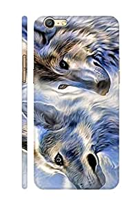 AMAN Ice Fox 3D Back Cover for Oppo A57