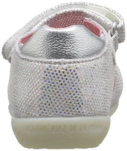 Agatha Ruiz de la Prada Vouzela, Chaussures Premiers pas bébé fille Blanc (D Blanco Serraje Laminado)