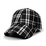 Plaid Baseball Kappe, Herbst-Und Winter Modelle Wild Süß Niedlich Retro British Student Youth Cap,C