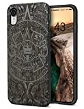 YFWOOD Caso di Legno Cool per iPhone XR Uomo Legno Telefono Shell Copertura Completa per Il Premio in Legno Carving TPU Caso paraurti Shock-Assorbimento Resistente agli Urti Cover 6,1'' Display