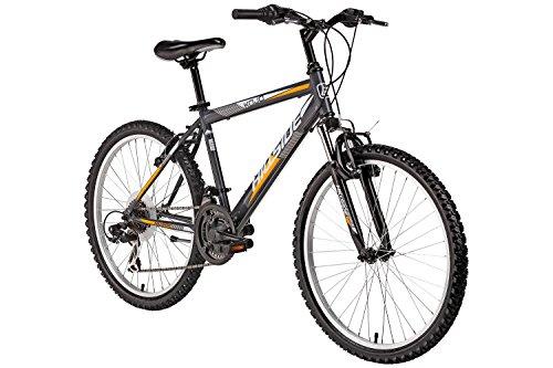 Mountainbike 24 Zoll für Kinder Hillside Kojo in grau Kinderfahrrad Fahrrad MTB 21 Gang Shimano Tourney Seitenständer, Federung vorn