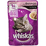 Whiskas Wet Meal Adult Cat Food, Salmon In Gravy, 85 G (Pack Of 6)
